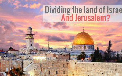 Dividing the land of Israel? And Jerusalem?
