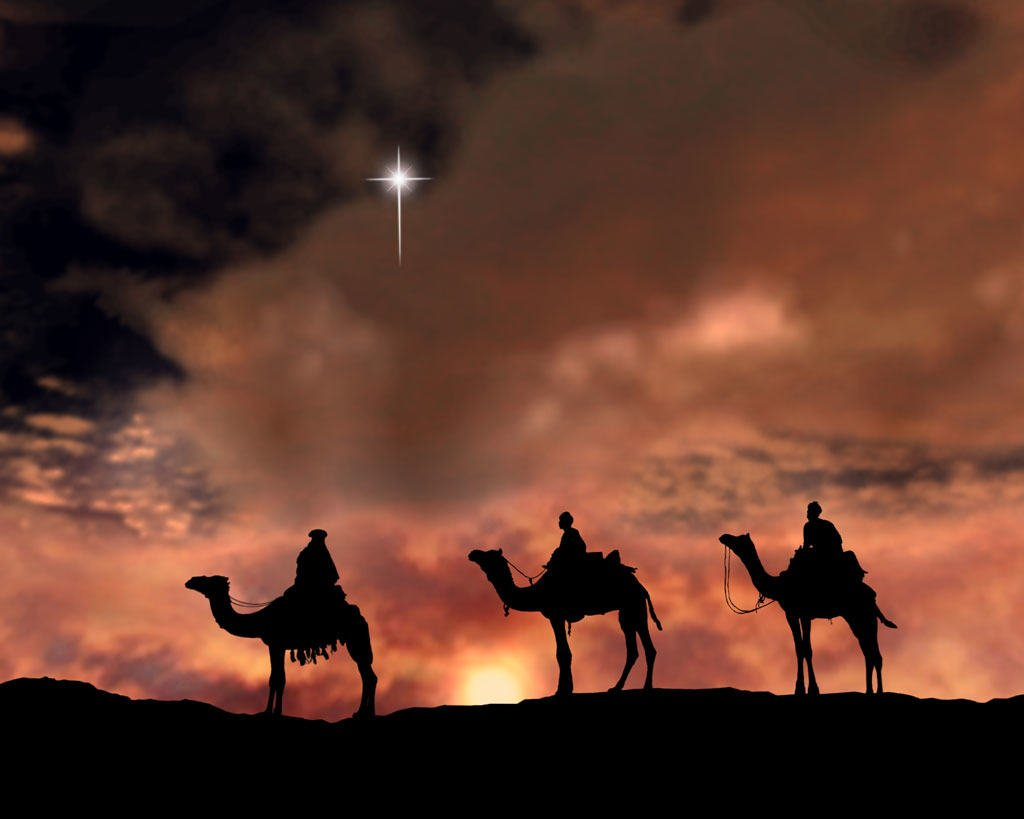 From Jerusalem to Bethlehem, yes even into the village, the star guided us until it stood above the place where the Child was. The journey was long and wearisome, but worth it. In the house we saw the Child, fell down and worshipped Him. Gaspar opened our treasures. We gave Jesus gifts of gold, frankincense and myrrh.
